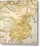 Map: China, 1910 Metal Print
