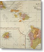 Map: Hawaii, 1905 Metal Print