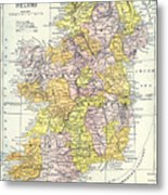Map: Ireland, C1890 Metal Print