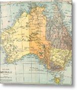 Map: Australia, C1890 Metal Print