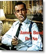 007, James Bond, Sean Connery, Dr No Metal Print