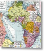 Partitioned Africa, 1914 Metal Print
