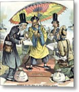 Missionary Cartoon, 1895 Metal Print