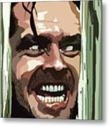 008. Heres Johnny Metal Print