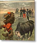 Boer War Cartoon, 1899 Metal Print