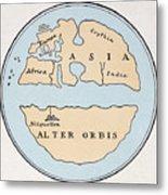 World Map, 1st Century Metal Print