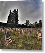 01 Flags For Fallen Soldiers Of Sep 11 Metal Print