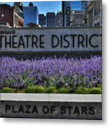 01 Plaza Of Stars Buffalo Theatre District Metal Print