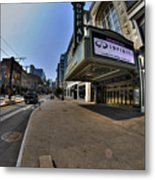 01 Walking Past Sheas Buffalo Ny Metal Print