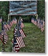 010 Flags For Fallen Soldiers Of Sep 11 Metal Print
