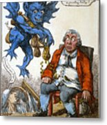 Cartoon: John Bull, C1814 Metal Print