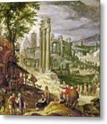Roman Forum, 16th Century Metal Print