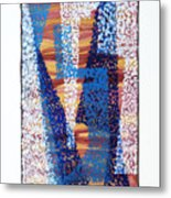 01325 Blue Too Metal Print