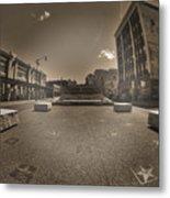 02 Plaza Of Stars Sepia Tone  Metal Print
