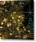 02 Xmas Trees At Canalside And Seneca One Tower Dec2015 Metal Print