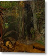 026    Some Are Forever Sleeping In The Woods V Metal Print