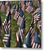03 Flags For Fallen Soldiers Of Sep 11 Metal Print