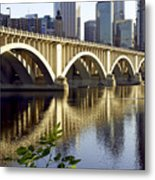 0333 3rd Avenue Bridge Minneapolis Metal Print