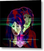 036 Two Faces Of  Night A V Metal Print