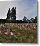 04 Flags For Fallen Soldiers Of Sep 11 Metal Print