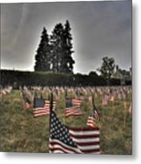 05 Flags For Fallen Soldiers Of Sep 11 Metal Print