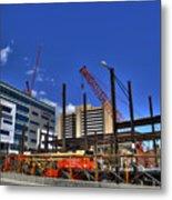 05 Medical Building Construction On Main Street Metal Print