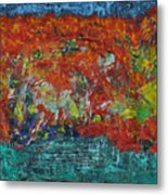 057 Abstract Thought Metal Print