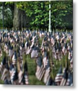06 Flags For Fallen Soldiers Of Sep 11 Metal Print