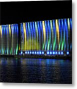 06 Grain Elevators Light Show 2015 Metal Print