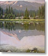 060923-2430  Reflections At Days End   Metal Print