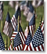 07 Flags For Fallen Soldiers Of Sep 11 Metal Print