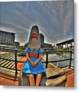 07 Shark Girl Metal Print