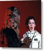 070. Naughty Wookie Metal Print by Tam Hazlewood
