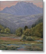 070815-1814   Evening Over Long Scraggy Mt.  Metal Print