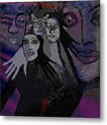 071   The  People Of   Night  A Metal Print