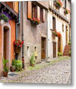Half-timbered House Of Eguisheim, Alsace, France Metal Print