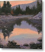 080110-2016  Sundown Reflections Metal Print
