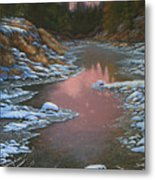 080210-3040 Early Morning Light - Winter Metal Print