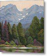 090817-1114  Ripples and Reflections - Sprague Lake Metal Print