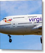 A Virgin Atlantic Boeing 747 Metal Print