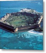 Fort Jefferson In The Gulf Of Mexico Metal Print