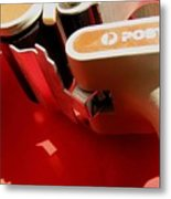 10 Objects On Red Metal Print