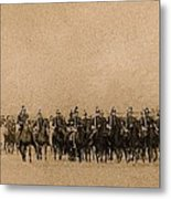 180 Degrees Panorama Troops Passing In Review No Date Or Locale Restored Color Added 2008 Metal Print
