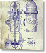 1903 Fire Hydrant Patent Metal Print