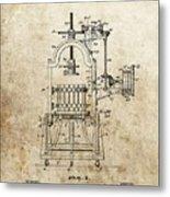1903 Wine Press Patent Metal Print