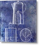1921 Coffee Pot Patent Metal Print