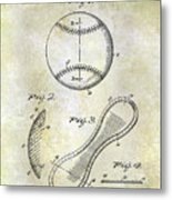 1924 Baseball Patent Metal Print