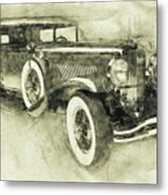 1928 Duesenberg Model J 3 - Automotive Art - Car Posters Metal Print