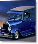 1928 Ford Tudor Sedan II Metal Print