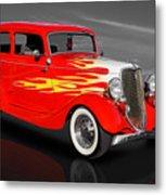 1933 Ford Sedan - 33fdtudorsed Metal Print